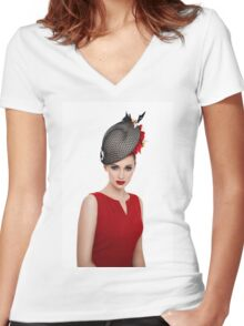 Morgane #1 Women's Fitted V-Neck T-Shirt