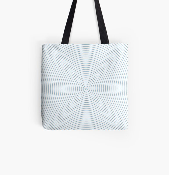 Spiral All Over Print Tote Bag