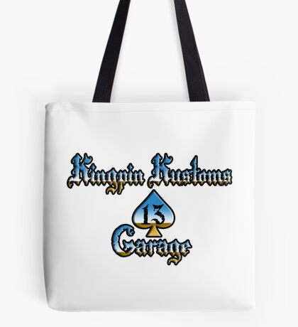 Kingpin Kustoms Garage chrome design Tote Bag