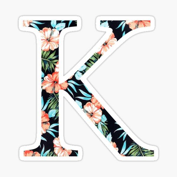 Kappa Floral Greek Letter Design Sticker