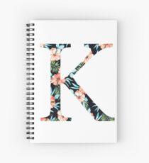 Kappa Floral Greek Letter Design Spiral Notebook