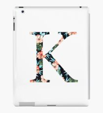 Kappa Floral Greek Letter Design iPad Case/Skin