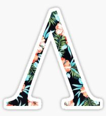 Lambda Floral Greek Letter Sticker
