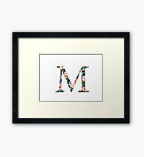 Mu Flora Greek Letter Framed Print
