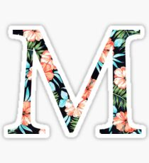Mu Flora Greek Letter Sticker