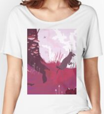 The Pink Velvet Forest Women's Relaxed Fit T-Shirt