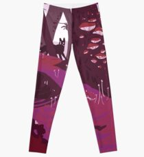 The Pink Velvet Forest Leggings