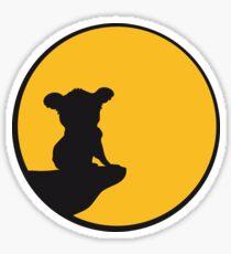 moon cliff night howling dark werewolf who koala sitting vollmond sunlight outlined Sticker