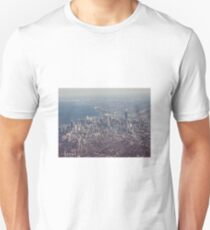 Chicago from the air color photo Unisex T-Shirt