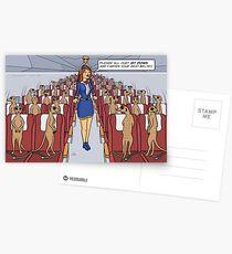 Meerkats on a Plane Postcards
