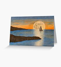 Sunset sailboat Greeting Card