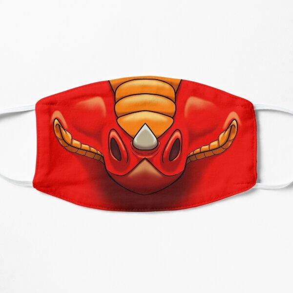 Roter Drache Flache Maske