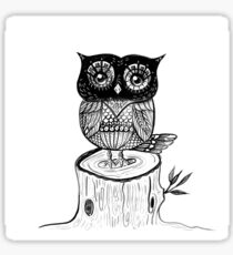 Little Owl Watercolor Sticker