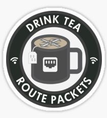 Drink Tea, Route Packets Sticker