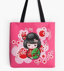Japanese Kokeshi Doll Tote Bag