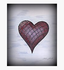 Checkered Heart Photographic Print