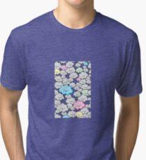Kawaii Little Colourful Clouds Tri-blend T-Shirt