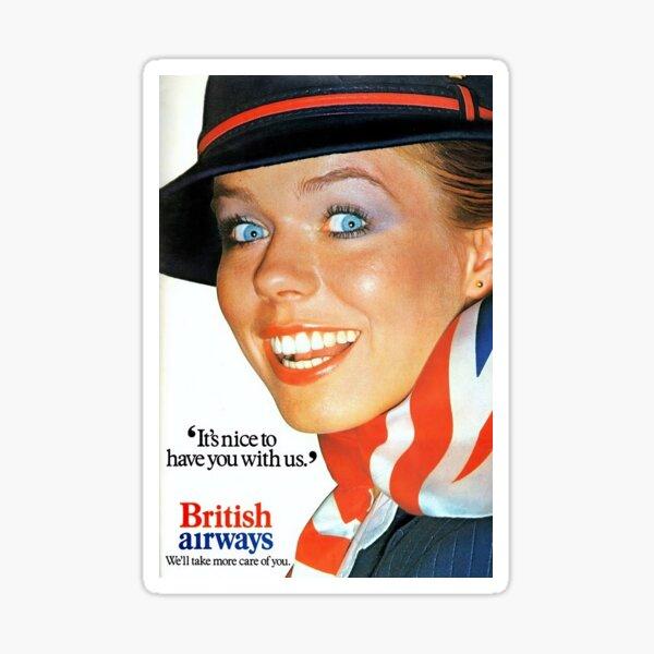 Vintage British Airways Travel Poster Sticker