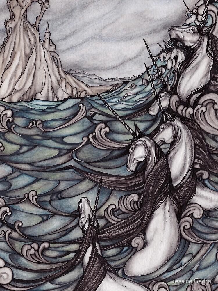 Unicorns in Sea by jessicagadra
