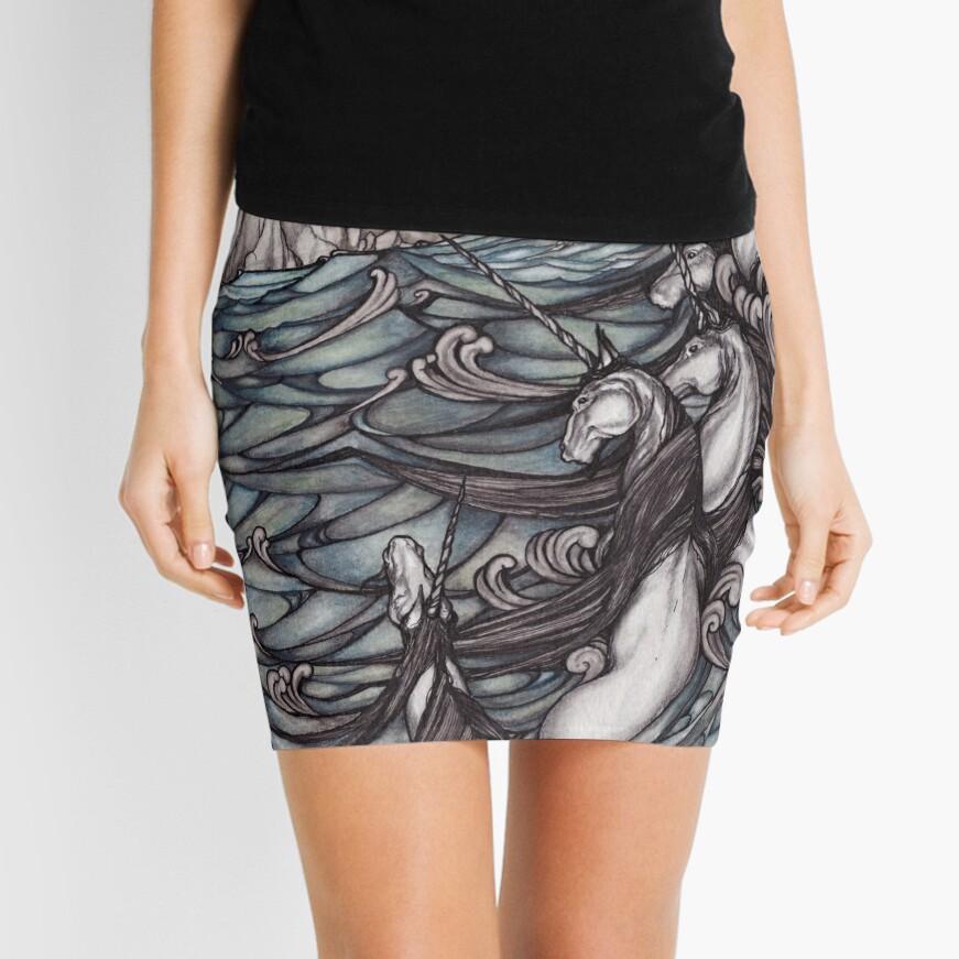 Unicorns in Sea Mini Skirt