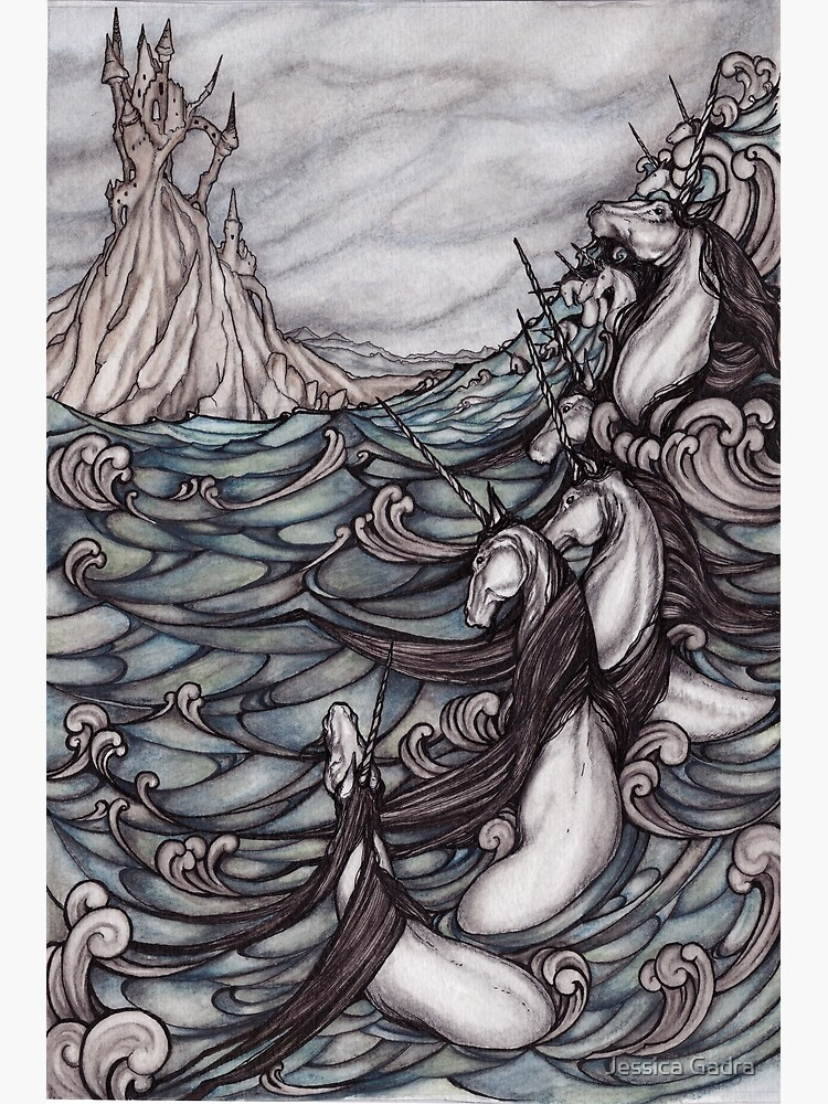 Unicorns in Sea by jessicagadra