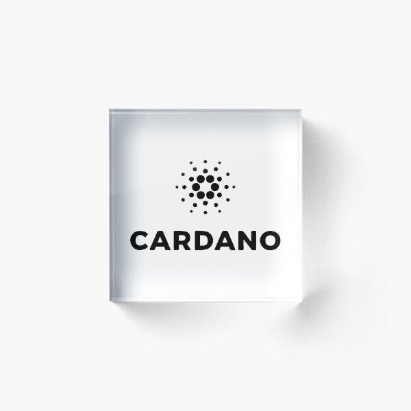 BEST SELLER - cardano Merchandise Acrylic Block