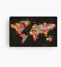 Psychedelic Continents Canvas Print