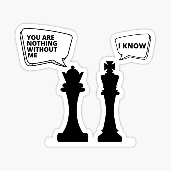 Funny Chess QUEEN. Sticker