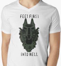 Feet First into Hell  Men's V-Neck T-Shirt