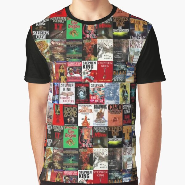 Stephen King Book Cover Collage Graphic T-Shirt