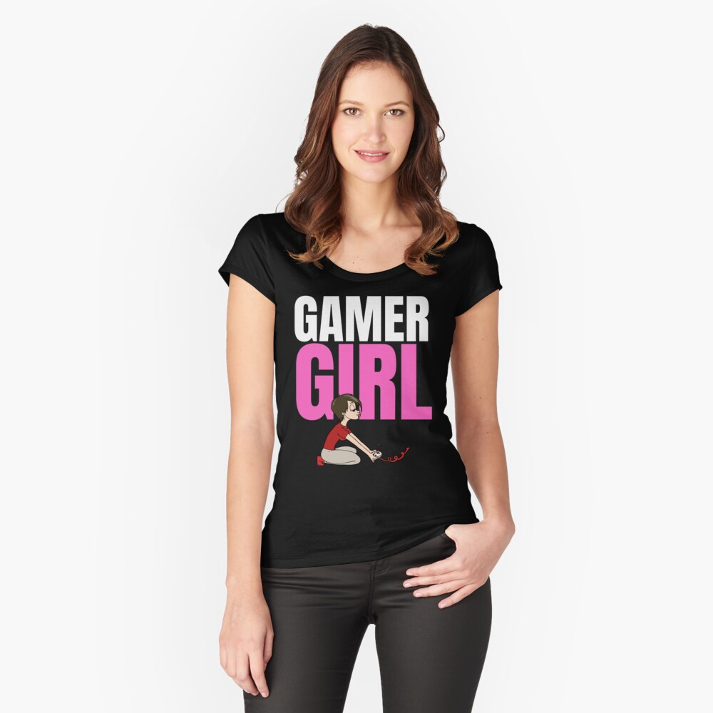 Gamer girl, gaming design for her Fitted Scoop T-Shirt