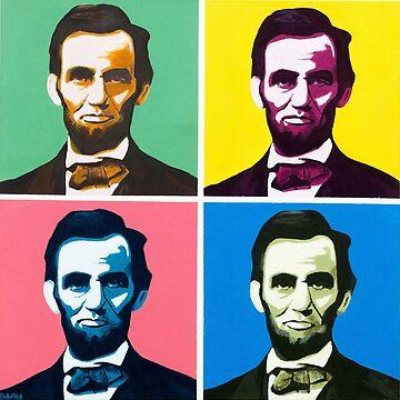 Abe, Abraham Lincoln, Painting, Warhol by bennyisjamin
