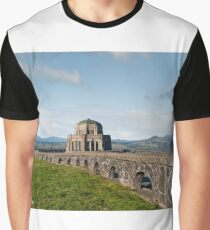 Vista House at Crown Point Graphic T-Shirt