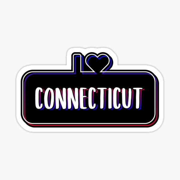 I Love Connecticut Sticker