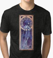 Camiseta de tejido mixto Lapis Lazuli Mucha