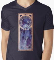 Lapis Lazuli Mucha Men's V-Neck T-Shirt