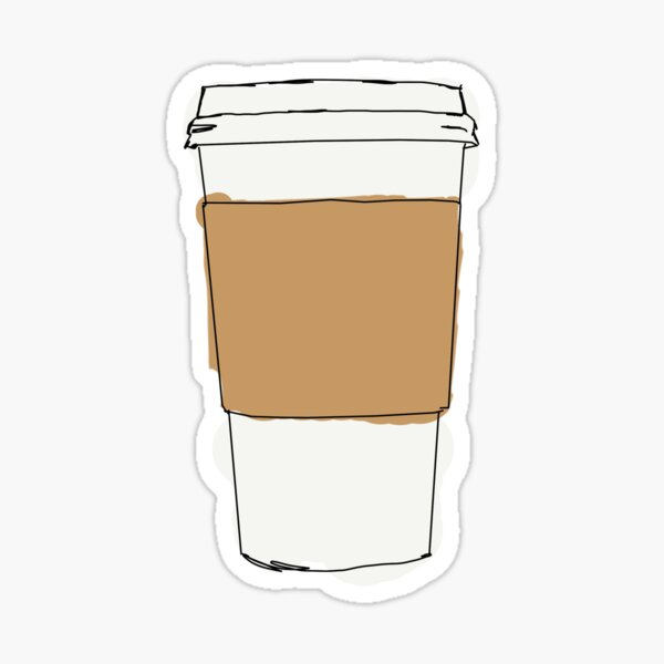To-go Coffe Cup Pegatina