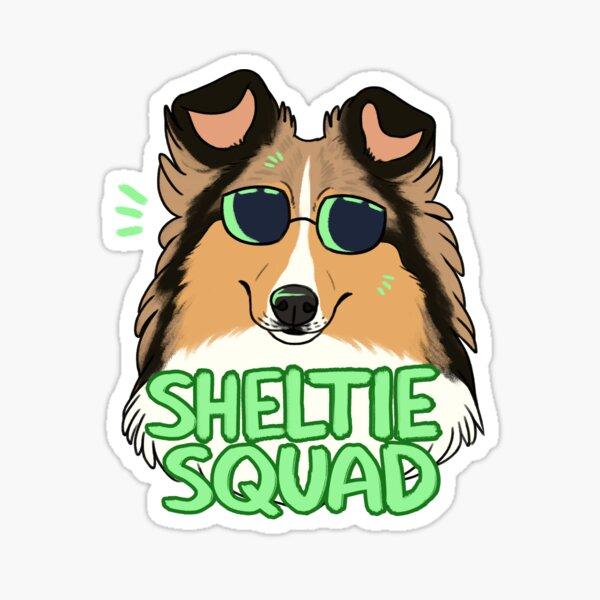 SHELTIE SQUAD (sable) Sticker