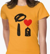 I Heart Beauty and The Beast Womens Fitted T-Shirt