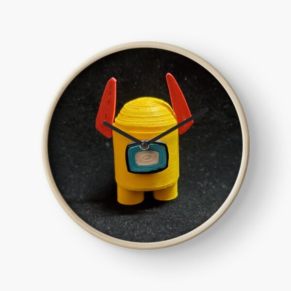 Paper Quilling Among Us Character With Devil Horn Clock