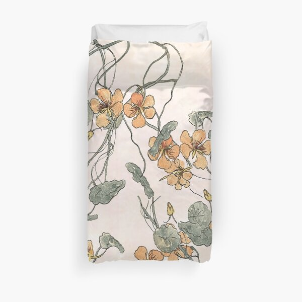 Winding - floral watercolour Duvet Cover