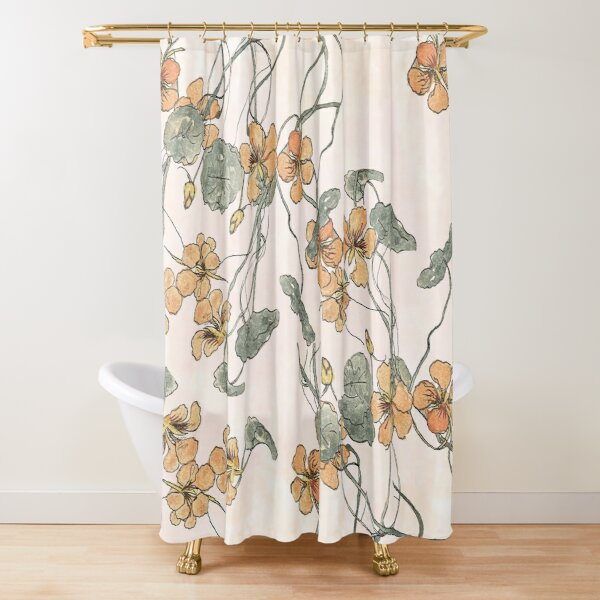 Winding - floral watercolour Shower Curtain
