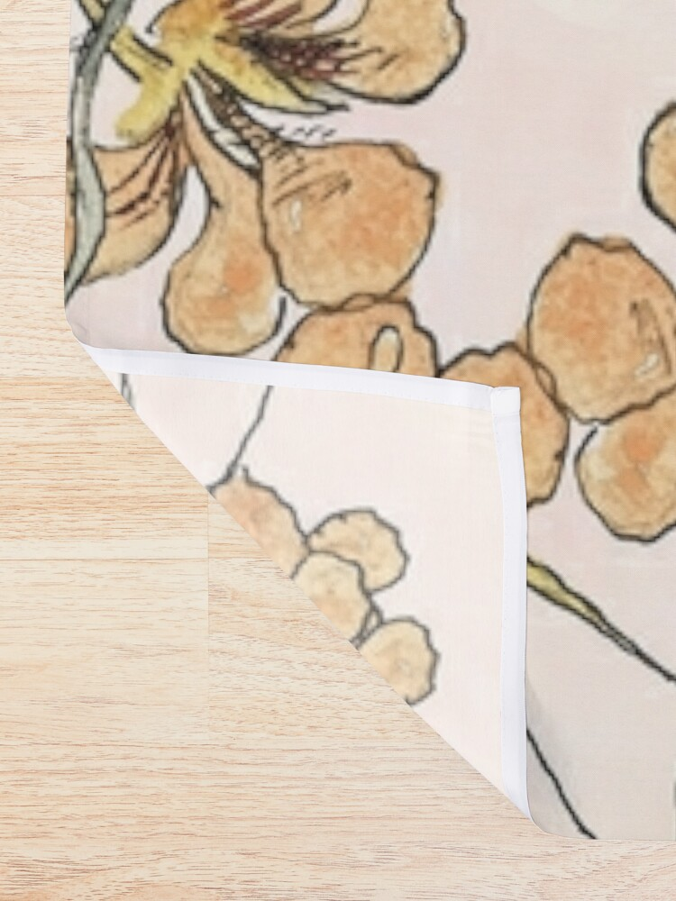 Alternate view of Winding - floral watercolour Shower Curtain
