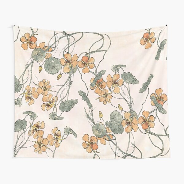 Winding - floral watercolour Tapestry