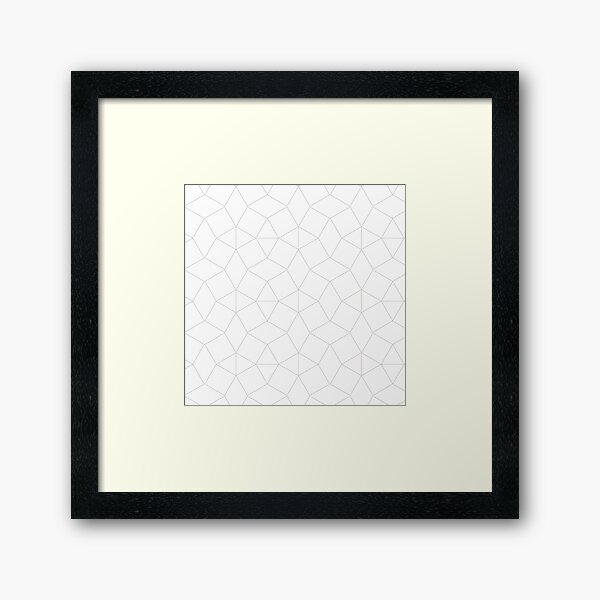 Dashleigh Geometric Label Design Template, Mesh, Web, Net Framed Art Print
