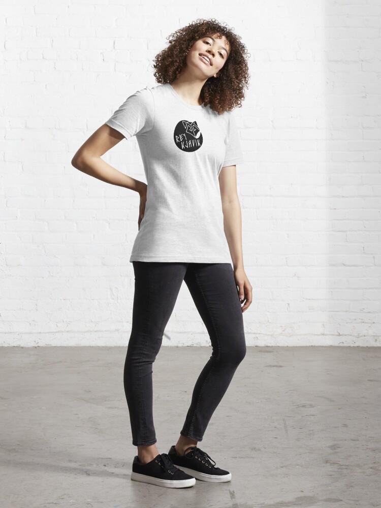 Alternate view of REYKJAVIK black Essential T-Shirt