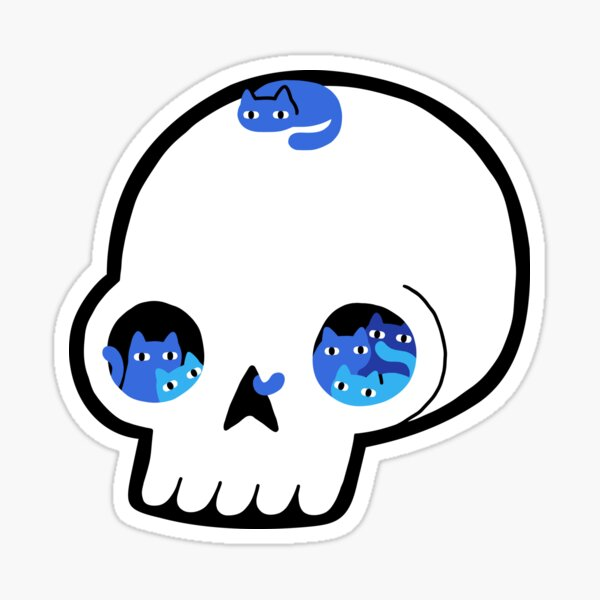 Skull Full Of Cats Sticker