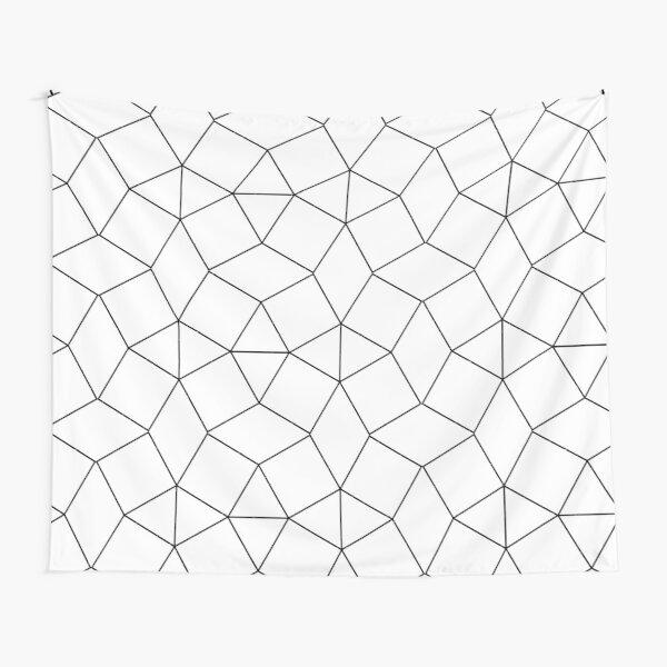 Dashleigh Geometric Label Design Template, Mesh, Web, Net Tapestry