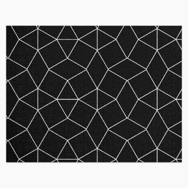 Dashleigh Geometric Label Design Template, Mesh, Web, Net Jigsaw Puzzle