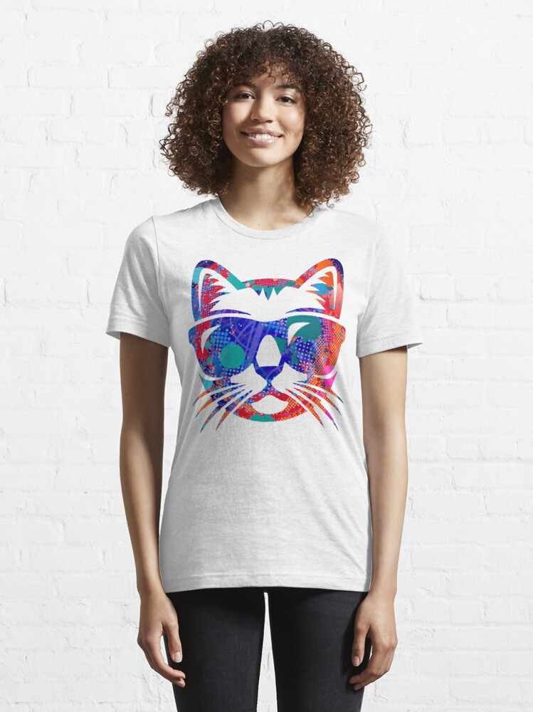 Alternate view of Cat Face of colors Essential T-Shirt